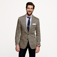 Ludlow sportcoat in herringbone Italian linen