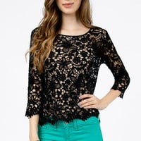 Flower Power Crochet Top $25