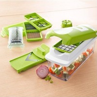 Professional and Safe Fruit and Vegetable Chopper Nicer Dicer Plus, 10 pieces: Kitchen & Dining