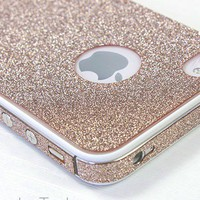 iPhone 4/4S/5 Sand colour Shiny Rhinestone Full Body Skin Sticker Shield
