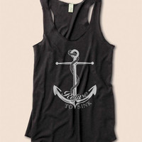 Anchor Tank Refuse To Sink Nautical Eco Friendly Racerback