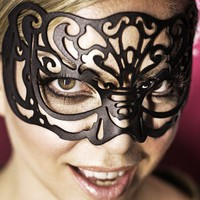 "Leather mask in black ""Victoriana"""