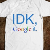 Google It Unisex V-Neck Tee - Perfezione - Skreened T-shirts, Organic Shirts, Hoodies, Kids Tees, Baby One-Pieces and Tote Bags