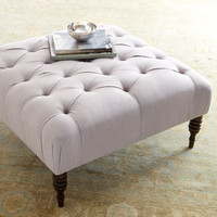 """Nancy"" Tufted Ottoman - Horchow"
