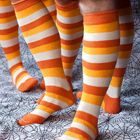 Socks By Sock Dreams  » Socks » Candy Corn Stripes