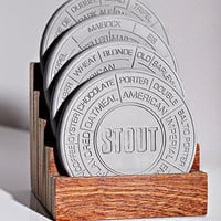 Pop Chart Lab  Concrete Beer Coaster Set