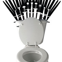 Sword Throne Toilet Decal