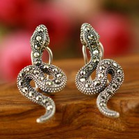 accessoryinlove  Snake Shape 925 Sterling Silver Earrings
