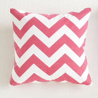 Pink Chevron Pillow