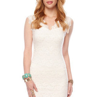 Rosie Lace Dress in Ivory :: tobi