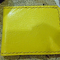 SALE Yellow leather man's wallet  handmade