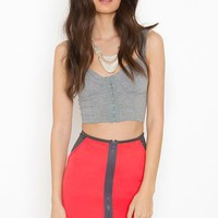 Zipped Scuba Skirt - Coral in Sale at Nasty Gal