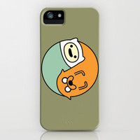 Adventure Time Yin-Yang / Jake-Finn iPhone Case by Gerald Briones | Society6