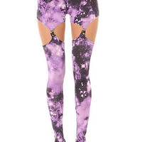 See You Monday  The Galactic Garter Legging in Purple : Karmaloop.com - Global Concrete Culture