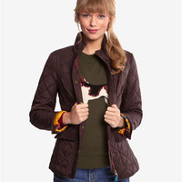 Saddle Moredale Womens Quilted Jacket  | Joules UK