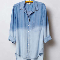 Anthropologie - Dip-Dye Chambray Buttondown
