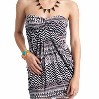 tribal print tube dress $24.80 in BLACKWHITE - Tribal | GoJane.com