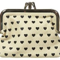 Heart Double Frame Clasp Purse