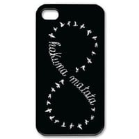 Keep Calm and Hakuna Matata Tribal Pattern Snap On Case Cover for Apple iPhone 4/4s Best Case Show 1ya321: Electronics
