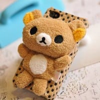 Amazon.com: Rilakkuma San-X Cute 3d Plush Doll Iphone 5 Case Cover Skin: Cell Phones &amp; Accessories