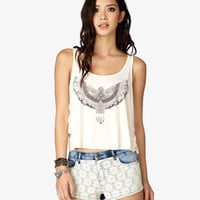 Tribal-Inspired Ruffle Tank
