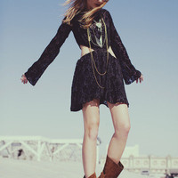 Blackbird Dress in Velvet Burnout by emergingthoughts - Chictopia