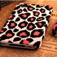 Cute White leopard Hello Kitty Ultra thin Scrub PC Soft Case Cover for iphone 4 4S: Cell Phones & Accessories