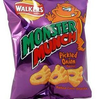 Walker's Monster Munch Pickled Onion - 1.2oz (34g) - Imported from England