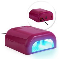 Professional 36 Watt UV Beauty Salon Nail Dryer - Pink: Health & Personal Care