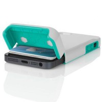 INCIPIO STASHBACK Hybrid Case w/ Credit Card Slot IPH-847 (White/Teal) for Apple iPhone 5: Cell Phones & Accessories