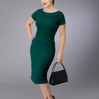 Black Cocktail Dress - Elise Rockabilly 40s-50s Inspired Dress | UsTrendy