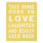 Love and Cold Beer Poster