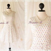 Vintage School Collection - Sweet Pretty Cute Mini Dress Spring Summer Sundress Party Wedding Dancing Dress XS-S