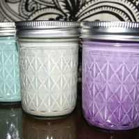 Spring coloured Mason Jars  for wedding patio flowers organization