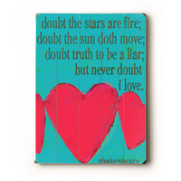 Never Doubt I Love 18x24 wooden art sign by lisaweedn on Etsy