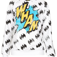 Batman 'Wham' Sweat - Jersey Tops - Clothing - Topshop