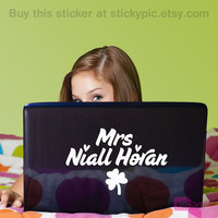 Mrs Niall Horan - One Direction - (Laptop Decal 1D Wall Sticker Decal PC Apple Macbook Mac Geekery)