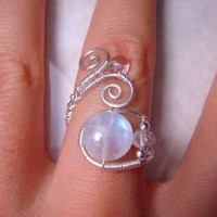 Rainbow Moonstone and Topaz Sterling Silver by PassionateJewelry