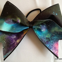 Outer Space Large Galaxy Cheer Bow Hair Bow Cheerleading