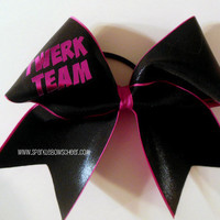 Twerk Team Large Cheer Bow Hair Bow