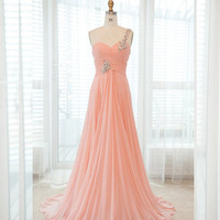 Brilliant A-line Floor-Length Prom dress