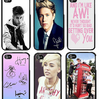 Tumblr Fashion IPhone 4/4S Cases ONE DIRECTION justin bieber, miley cyrus