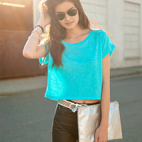 Boxy Slub Top | FOREVER21 - 2000035881