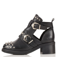 ARABEL Cut Out Studded Boots - Boots - Shoes - Topshop
