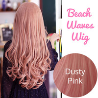 Beach Waves Long Full Wig Japanese Korean Ulzzang | EyeCandy's