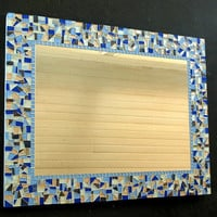 Blue Mosaic Wall Mirror, CUSTOM
