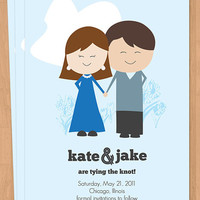 Custom Illustrated Save the Date Custom by lindsayleedesign