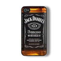 Unique Iphone 4 Case, Iphone 4s Case, Cool Jack Daniel Whiskey Iphone Case, Personalized Iphone 4 Case: Cell Phones & Accessories