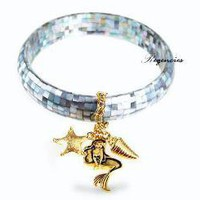 Disney Couture Little Mermaid Mother Of Pearl Grey Bracelet [07/02/2010] - $138.00 : Regencies
