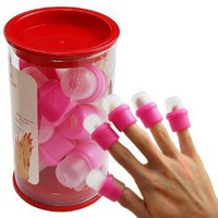10PC wearable nail art soakers Ongle acrylic removal: Beauty